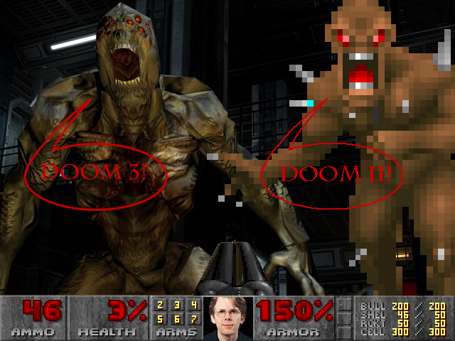 doom 2 vs 3